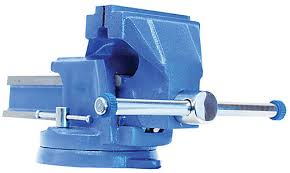 6 Inch Bench Vise Firm Grip 6 Inch Steel Bench Vise With Swivel Base The Home