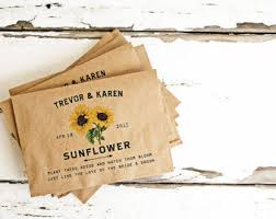 sunflower seed wedding favors seed packet wedding favors personalized bag and seeds