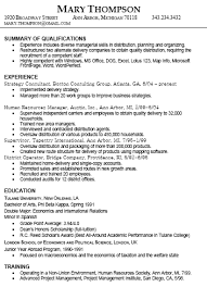 Summary Of A Resume Example by Unthinkable Type A Resume 6 Different Resume Example