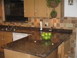 Kitchens With Dark Cabinets And Light Countertops Mosaic Tiles For