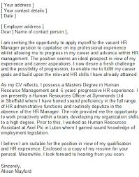 luxury cover letter examples for human resources position 55 on