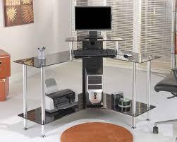 Glass Corner Desks Simple Black Corner Desk Thedigitalhandshake Furniture Home