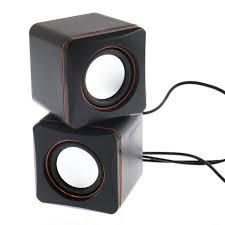 haut parleur pour ordinateur de bureau portable carré forme usb filaire haut parleur stéréo basse lourde