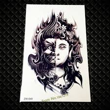 two sided buddha design armband temporary tattoos gzw 040