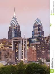 Liberty Place Floor Plans Philadelphia Skyline Of One And Two Liberty Place With Pink Even