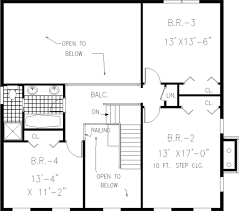 colonial style house plan 4 beds 2 50 baths 2717 sq ft plan 3 219