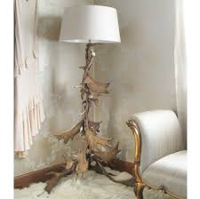 Floor Lamps For Living Room Lighting Unique Moose Antler Floor Lamp With White Shade For