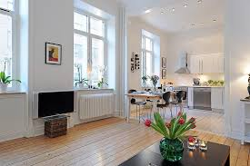 Decorating An Open Floor Plan Swedish 58 Square Meter Apartment Interior Design With Open Floor