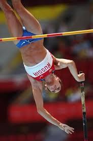 Blind Pole Vaulter Michael Stone Yelena Isinbayeva Reaches Height Of 5 03 Metres In The Women U0027s