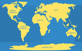 map world seas 5 oceans of the world the 7 continents of the world