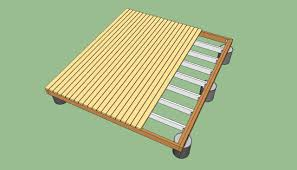 deck plans howtospecialist how to build step by step diy