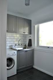 Cabinets For Laundry Room Laundry Room Subway Tile Grey Cabinets Humble Abode