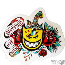 spitfire tattoo flash dagger skateboard snowboard sticker 13cm