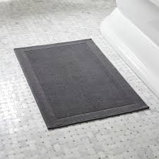 Thin Bath Mat Westport Grey Bath Rug In Bath Rugs Reviews Crate And Barrel