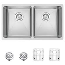 scratch resistant stainless steel sink water creation undermount stainless steel 32 in double bowl kitchen