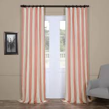 Light Pink Window Curtains Light Pink Rugby Stripes Faux Silk Taffeta Window