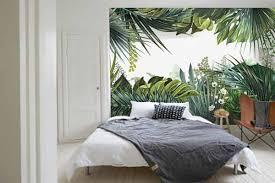 papier peint trompe l oeil pour chambre papier peint trompe l œil jungle tropicale nouveauté toile
