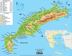 Thousand Islands Map Kos Map Kos Island Town Greece Maps U0026 Information Brochures