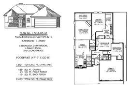 House Plans And Designs For 3 Bedrooms Narrow 1 Story Floor Plans 36 To 50 Wide