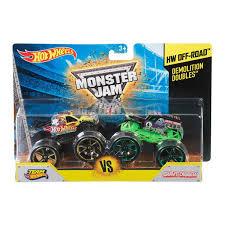 monster truck grave digger toys wheels monster jam demolition doubles set of 2 assorted kmart