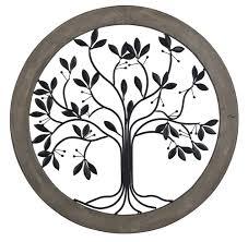 tree of life metal wall decor circular wall panels