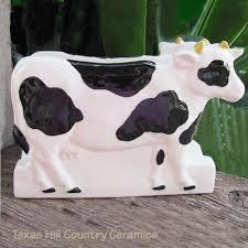 black and white holstein cow napkin holder or letter holder