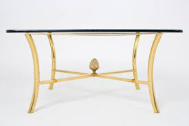 Brass And Glass Coffee Table Gilt Brass Coffee Table By Maison Raphael Jean Marc Fray
