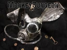 Gas Mask Costume Post Apocalyptic Metallic Bunny Gas Mask Halloween Haunted House