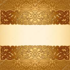 vintage background antique golden ornament baroque
