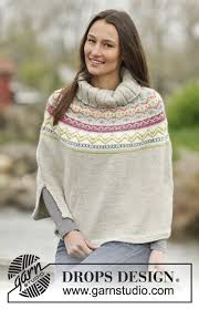 drops design poncho 9 best x poncho fair isle images on drops design