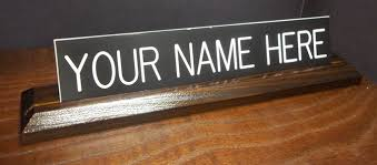 Wooden Desk Name Plates Correction Enterprises Signs Office Signs Int Office Signs