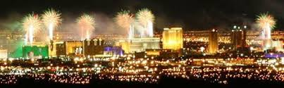 new years in las vegas the new year s fireworks display from the best vantage