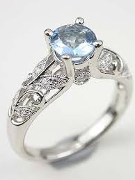 antique aquamarine engagement rings vintage inspired aquamarine engagement ring rg 3169h
