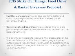 2015 strike out hunger food drive basket giveaway