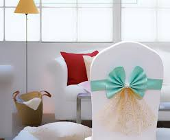 Bows For Chairs Sashes Chair Cover Bow Sash Wedding Banquet Party Decorations