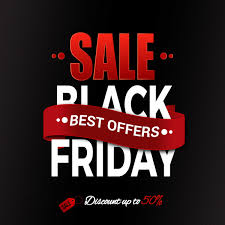 black friday free black friday banner curved design on black background free vector