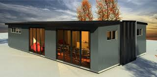 elegant black nuance of the container house kits that can be decor