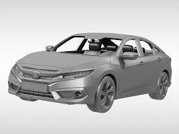 honda car models honda civic 2017 3d model