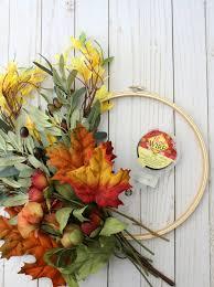 wreath supplies simple diy fall hoop wreath frazzled