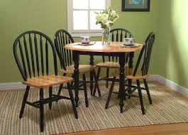 tms 5pc black natural drop leaf dining set 44209blk