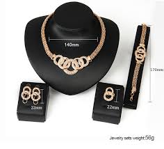 accessories ring necklace images European crystal handcuffs necklace earring bracelet ring set jpg