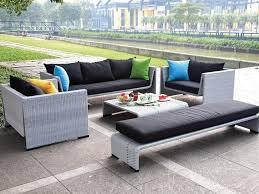 Patio Sectional Sofa Modern Gray Wicker Patio Outdoor Sectional Sofa Set Genuine Ohana