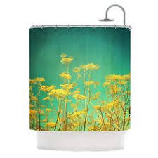Yellow Flower Shower Curtain Shower Curtain Featuring Yellow Flower By Gloria Larravide