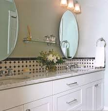 Round Bathroom Mirror by Enchanting Design Ideas Using Silver Single Hole Faucets And Round