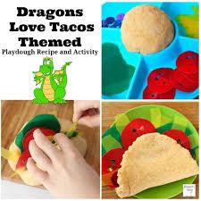 printable playdough recipes dragons love tacos playdough recipe and activity