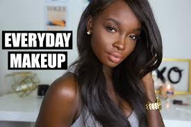 my updated everyday makeup routine dark skin youtube