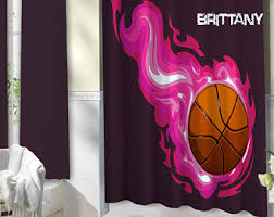 Basketball Curtains Basketball Shower Etsy