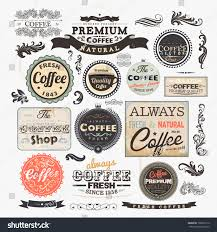 style coffee frames labels retro stock vector 100616110