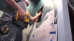 how to build a recessed niche in a shower youtube