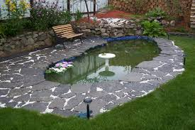 backyard decor creating comfortable fish pond in garden house